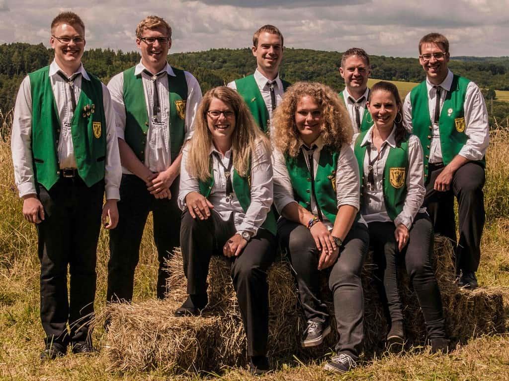 Das Jugendleiterteam der Original Kasseler Musikanten