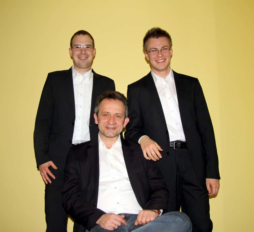 Die Dirigenten der Original Kasseler Musikanten (v.l.: Simon Maiberger, Uli Staab, Philipp Schum)